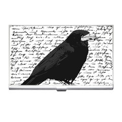 Black Raven  Business Card Holders by Valentinaart
