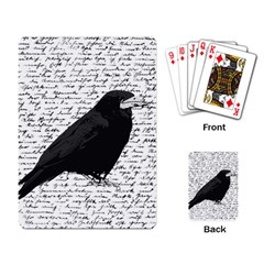 Black Raven  Playing Card by Valentinaart