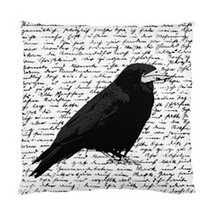 Black Raven  Standard Cushion Case (two Sides) by Valentinaart