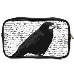 Black Raven  Toiletries Bags 2 Side by Valentinaart