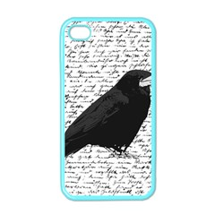Black Raven  Apple Iphone 4 Case (color) by Valentinaart