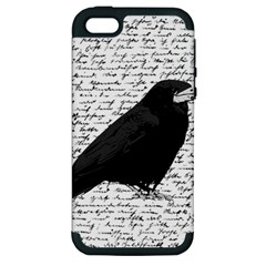 Black Raven  Apple Iphone 5 Hardshell Case (pc+silicone) by Valentinaart