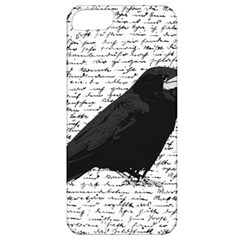Black Raven  Apple Iphone 5 Classic Hardshell Case by Valentinaart