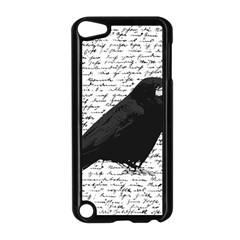 Black Raven  Apple Ipod Touch 5 Case (black) by Valentinaart