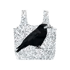 Black Raven  Full Print Recycle Bags (s)  by Valentinaart