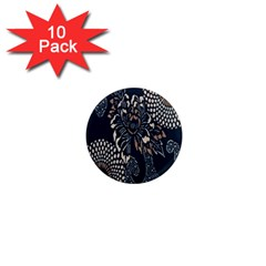 Patterns Dark Shape Surface 1  Mini Magnet (10 Pack)  by Simbadda