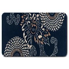Patterns Dark Shape Surface Large Doormat  by Simbadda