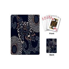 Patterns Dark Shape Surface Playing Cards (mini)  by Simbadda