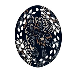 Patterns Dark Shape Surface Oval Filigree Ornament (two Sides) by Simbadda