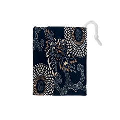 Patterns Dark Shape Surface Drawstring Pouches (Small)