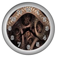 Patterns Dive Background Wall Clocks (silver)  by Simbadda