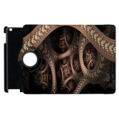Patterns Dive Background Apple Ipad 2 Flip 360 Case by Simbadda