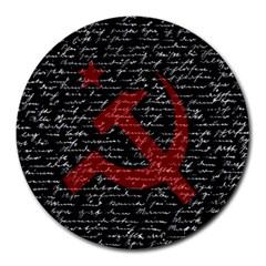 Communism  Round Mousepads by Valentinaart