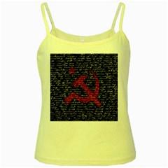 Communism  Yellow Spaghetti Tank by Valentinaart