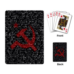 Communism  Playing Card by Valentinaart