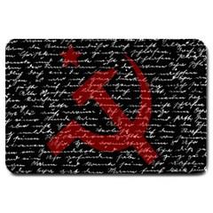 Communism  Large Doormat  by Valentinaart