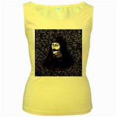 Count Vlad Dracula Women s Yellow Tank Top by Valentinaart