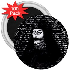 Count Vlad Dracula 3  Magnets (100 Pack) by Valentinaart