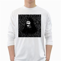 Count Vlad Dracula White Long Sleeve T Shirts by Valentinaart