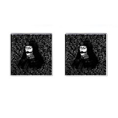 Count Vlad Dracula Cufflinks (square) by Valentinaart