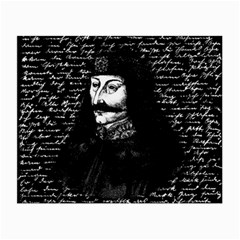 Count Vlad Dracula Small Glasses Cloth (2 Side) by Valentinaart