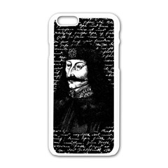 Count Vlad Dracula Apple Iphone 6/6s White Enamel Case by Valentinaart