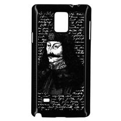 Count Vlad Dracula Samsung Galaxy Note 4 Case (black) by Valentinaart