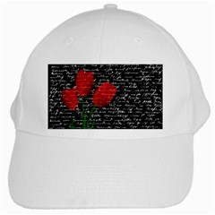 Red Tulips White Cap by Valentinaart