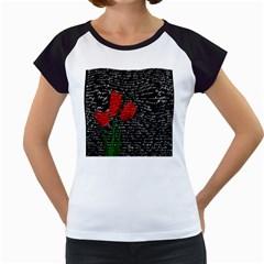 Red Tulips Women s Cap Sleeve T by Valentinaart