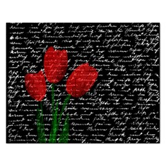 Red Tulips Rectangular Jigsaw Puzzl by Valentinaart