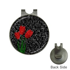 Red Tulips Hat Clips With Golf Markers by Valentinaart