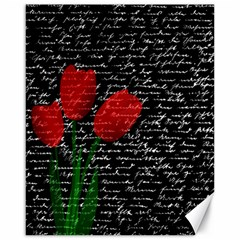 Red Tulips Canvas 16  X 20   by Valentinaart