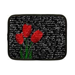 Red Tulips Netbook Case (small)  by Valentinaart