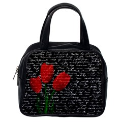 Red Tulips Classic Handbags (one Side) by Valentinaart