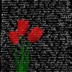 Red Tulips Magic Photo Cubes by Valentinaart