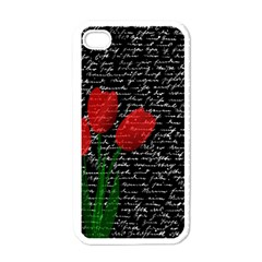 Red Tulips Apple Iphone 4 Case (white) by Valentinaart