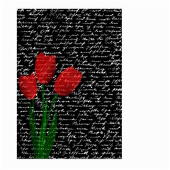 Red Tulips Large Garden Flag (two Sides) by Valentinaart