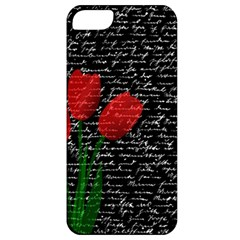 Red Tulips Apple Iphone 5 Classic Hardshell Case by Valentinaart