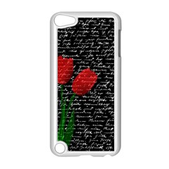 Red Tulips Apple Ipod Touch 5 Case (white) by Valentinaart