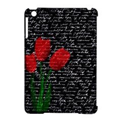 Red Tulips Apple Ipad Mini Hardshell Case (compatible With Smart Cover) by Valentinaart