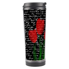 Red Tulips Travel Tumbler by Valentinaart