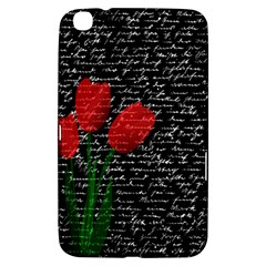 Red Tulips Samsung Galaxy Tab 3 (8 ) T3100 Hardshell Case  by Valentinaart