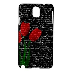 Red Tulips Samsung Galaxy Note 3 N9005 Hardshell Case by Valentinaart