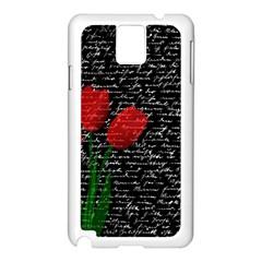 Red Tulips Samsung Galaxy Note 3 N9005 Case (white) by Valentinaart
