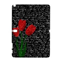 Red Tulips Galaxy Note 1 by Valentinaart
