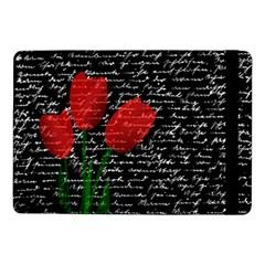Red Tulips Samsung Galaxy Tab Pro 10 1  Flip Case by Valentinaart