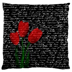 Red Tulips Standard Flano Cushion Case (one Side) by Valentinaart