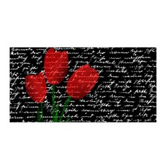 Red Tulips Satin Wrap by Valentinaart