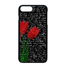 Red Tulips Apple Iphone 7 Plus Seamless Case (black) by Valentinaart