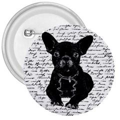Cute Bulldog 3  Buttons by Valentinaart